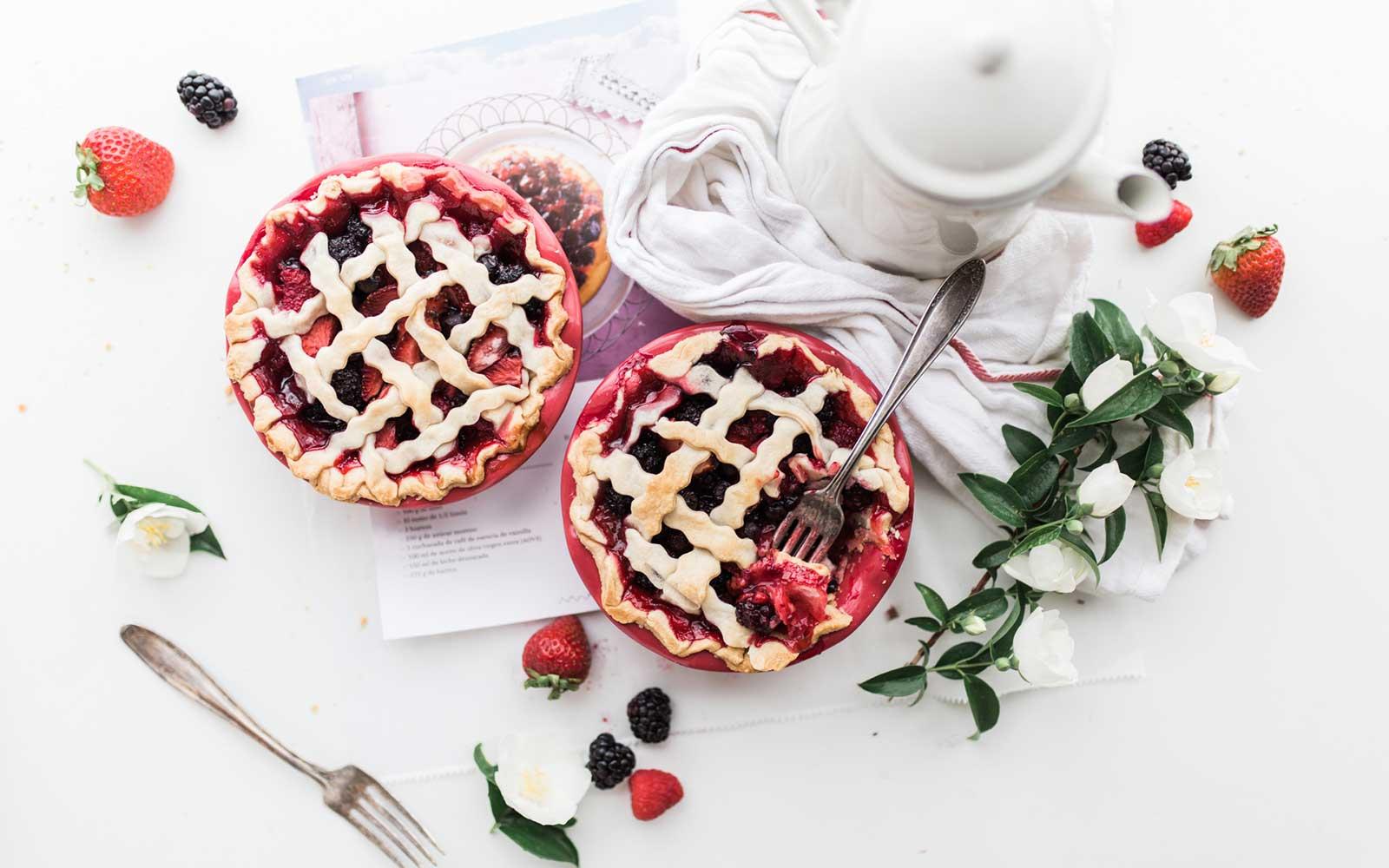 Rustic raspberry tart